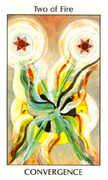 Two of Fire Tarot card in Tarot of the Spirit Tarot deck