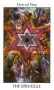 Five of Fire Tarot card in Tarot of the Spirit Tarot deck