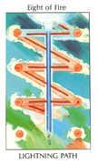 Eight of Fire Tarot card in Tarot of the Spirit deck