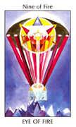 Nine of Fire Tarot card in Tarot of the Spirit Tarot deck