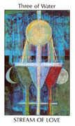 Three of Water Tarot card in Tarot of the Spirit Tarot deck