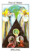 Five of Water Tarot card in Tarot of the Spirit Tarot deck