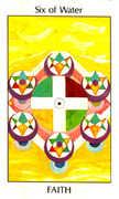 Six of Water Tarot card in Tarot of the Spirit Tarot deck