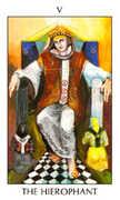 The Hierophant Tarot card in Tarot of the Spirit Tarot deck