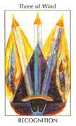 Three of Wind Tarot card in Tarot of the Spirit Tarot deck