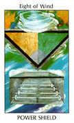 Eight of Wind Tarot card in Tarot of the Spirit Tarot deck