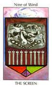Nine of Wind Tarot card in Tarot of the Spirit Tarot deck