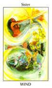 Sister of Wind Tarot card in Tarot of the Spirit Tarot deck