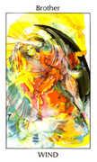 Brother of Wind Tarot card in Tarot of the Spirit Tarot deck