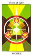 Three of Earth Tarot card in Tarot of the Spirit Tarot deck