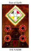 Five of Earth Tarot card in Tarot of the Spirit Tarot deck