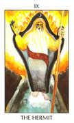 The Hermit Tarot card in Tarot of the Spirit Tarot deck