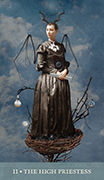 The High Priestess Tarot card in Dreamkeepers Tarot deck