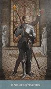 Knight of Wands Tarot card in Dreamkeepers Tarot deck