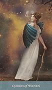 Queen of Wands Tarot card in Dreamkeepers Tarot deck