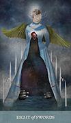 Eight of Swords Tarot card in Dreamkeepers Tarot deck