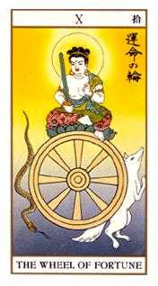 The Wheel of Fortune Tarot Card - Ukiyoe Tarot Deck