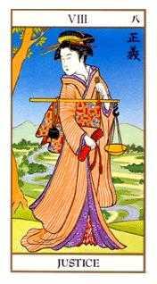 Justice Tarot Card - Ukiyoe Tarot Deck