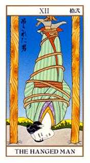 The Hanged Man Tarot Card - Ukiyoe Tarot Deck