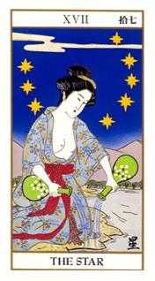 The Star Tarot Card - Ukiyoe Tarot Deck