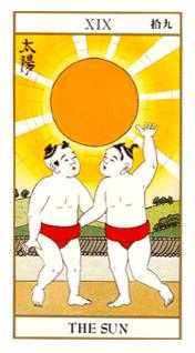 The Sun Tarot Card - Ukiyoe Tarot Deck