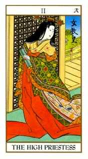 The Popess Tarot Card - Ukiyoe Tarot Deck