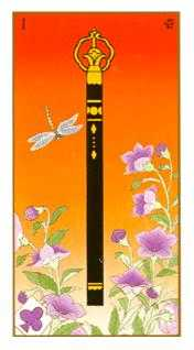 Ace of Batons Tarot Card - Ukiyoe Tarot Deck