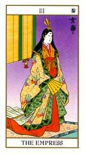 The Empress Tarot Card - Ukiyoe Tarot Deck