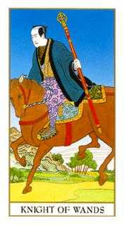 Knight of Staves Tarot Card - Ukiyoe Tarot Deck