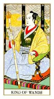 King of Staves Tarot Card - Ukiyoe Tarot Deck