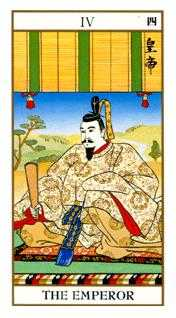 The Emperor Tarot Card - Ukiyoe Tarot Deck