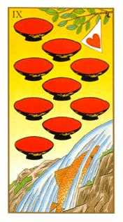 Nine of Cups Tarot Card - Ukiyoe Tarot Deck