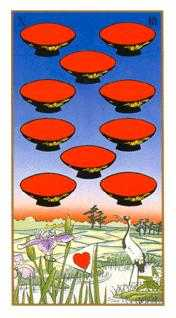 Ten of Cups Tarot Card - Ukiyoe Tarot Deck