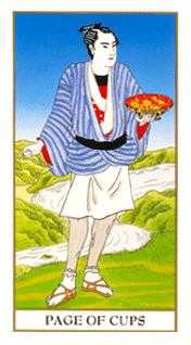 Page of Hearts Tarot Card - Ukiyoe Tarot Deck