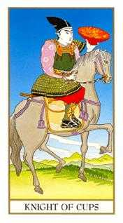 Cavalier of Cups Tarot Card - Ukiyoe Tarot Deck