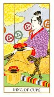 Roi of Cups Tarot Card - Ukiyoe Tarot Deck