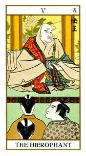 The Hierophant Tarot Card - Ukiyoe Tarot Deck