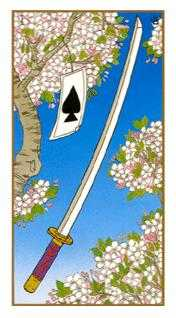 Ace of Swords Tarot Card - Ukiyoe Tarot Deck
