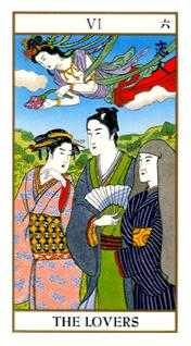 The Lovers Tarot Card - Ukiyoe Tarot Deck