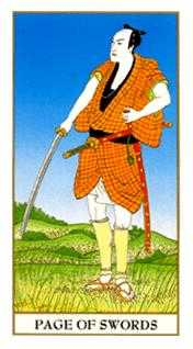 Knave of Swords Tarot Card - Ukiyoe Tarot Deck