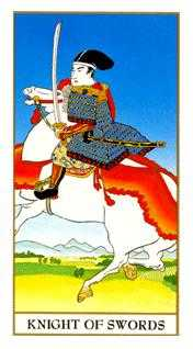 Prince of Swords Tarot Card - Ukiyoe Tarot Deck