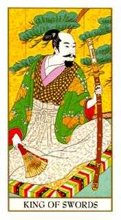 Roi of Swords Tarot Card - Ukiyoe Tarot Deck