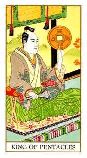 King of Coins Tarot Card - Ukiyoe Tarot Deck