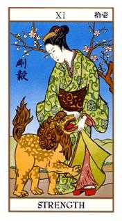 Strength Tarot Card - Ukiyoe Tarot Deck