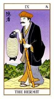 The Hermit Tarot Card - Ukiyoe Tarot Deck