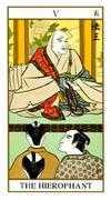 The Hierophant Tarot card in Ukiyoe deck