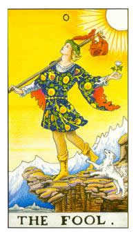 The Fool Tarot Card - Universal Waite Tarot Deck
