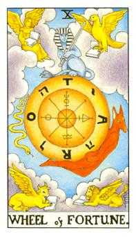 The Wheel of Fortune Tarot Card - Universal Waite Tarot Deck