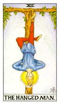 The Hanged Man Tarot Card - Universal Waite Tarot Deck
