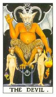 The Devil Tarot Card - Universal Waite Tarot Deck